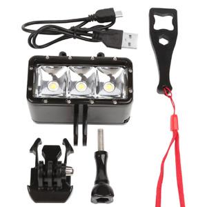 Diving Underwater Waterproof LED Video Light Lamp for Gopro 6/5 Sport Camera