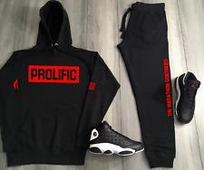 Prolific Red Box Logo Track Suit To Match Air Jordan Bred Nipsey Hussle Hoodies