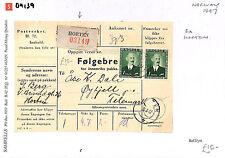 DA139 1947 NORWAY Horten Cover