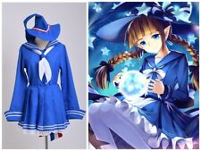 Witch Wadanohara Blue Sea Sailor Uniform Hat Socks Anime Cute Cosplay Costume