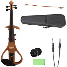 4/4 electric Violin Big jack Solid wood violin case bow Advance Model Rich sound