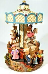 Ceramic Carousel Horses Merry Go Round Musical