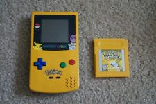Nintendo Game Boy Color Yellow Pokemon Pikachu Edition Console + Game and Case