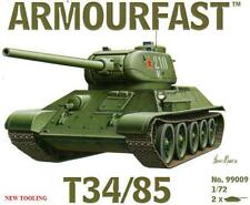 armourfast, 99009 T34 – 85 (x2) ,Russian Army tank,  model kit, scale 1:72