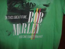 bob marley xlrg green short sleeved tee shirt