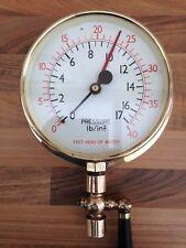 Vintage Brass Ships Engine Room Pressure Gauge Nautical Maritime Marine Boat