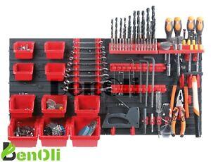 PROSPERPLAST Wandregal Werkzeugwand aus Kunststoff Lochwand Werkstattwand Regal