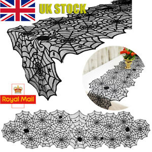Halloween Table Runner Spider Web Lace Table Cloth Cover Party Table Decor Kits