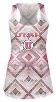 Utah Utes Burnout Tank Womens XL Semi Sheer Alumni Student Shirt Gym Fitness Tee