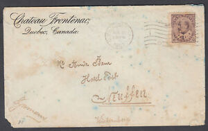 Canada Chateau Frontenac Sc#93 Cover Aug 21,1903 Quebec to Neuffen Germany **