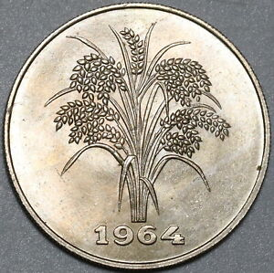 1964 Vietnam 10 Dong BU Rice Plant Coin (21031202R)