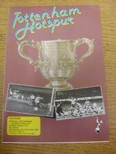 02/12/1981 Fulham Tottenham Hotspur V [Liga de fútbol Copa]. artículo parece ser