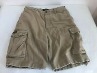 ABERCROMBIE FITCH Beige Vintage Fatigues Distressed Cargo Button Fly Shorts 32