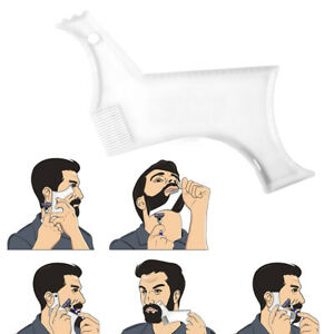 Men Beard Shaping Tool Styling Comb Template Shaving Shape Lines Hair Guide Tool