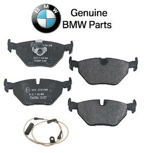 For BMW E39 525i 528i 530i 540i Rear Disc Brake Pad Set w/ Sensor Genuine