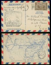 Mayfairstamps Canada First Flight cover 1929 Moncton to Sydney Map Card wwh40437