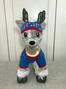 💜 Build a Bear Silver Snow Gray Reindeer w/ NEW Merry Mission Hat & Sweater Set