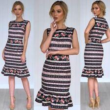 Gorgeous Dress Size 12 Floral Multi Coloured  Work Party Cocktails Communions