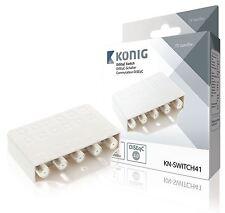 Konig Conmutador DiSEqC 4 entradas conmutadores de salida de 1