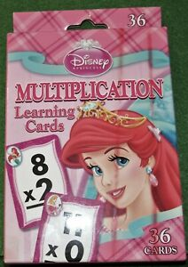 ARIEL, DISNEY PRINCESS MULTIPLACITION LEARNING CARDS