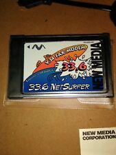 New Media 33.6 NetSurfer V.34 PCMCIA Data/Fax Modem PC Card