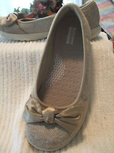 SKECHERS Go Walk Lite Shoes, FROM QVC, Romance, TAUPE, SIZE IS 9 MED