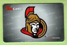 TIM HORTONS ( Canada ) Ottawa Senators NHL 2012 Gift Card ( $0 )