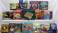 Lot of 16 Board Games & Other Items- Clue Jr, Labyrinth, I Spy, Hot Spot Nib, Nr