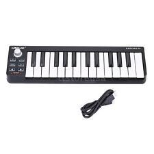 Durable Keyboard Mini 25-Key USB MIDI Controller NEW F3F0