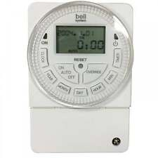 Bell System TS2000-BST 12V Progammable 24Hr 7 Day LCD Digital Timer Switch 24 hr