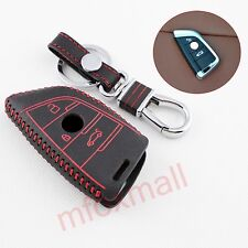 Leather Key Fob Case Holder Bag Cover For BMW X1 X5 X6 F15 F16 F48 Accessories