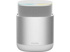 PURE DiscovR Smarter Lautsprecher App steuerbar Bluetooth Silber NEUWERTIG