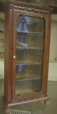 Quality 12th Dolls House  Glass Display Bookcase Cabinet Walnut  JaiYi 050.