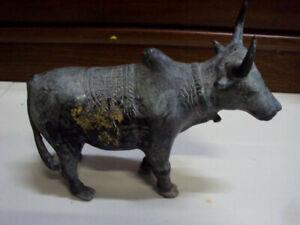 Bull Statue Talisman Power Protect Magic Ox Figure Anti Enemy Thai Amulet