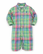 Ralph Lauren Plaid Cotton Poplin Coverall for Boys - New arrival 2016