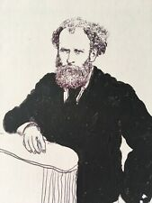 Earl Mayan Original Drawing  Of Manet on paper signed.