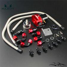 New Adjustable Fuel Pressure Regulator AN6 Hose End +Gauge Kit CIVIC 240SX 180SX