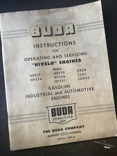 Buda Hivelo Engine Service Operation Manual Book Shop Guide 217234298326351