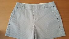 Elle Women's Blue Striped Shorts Size 8