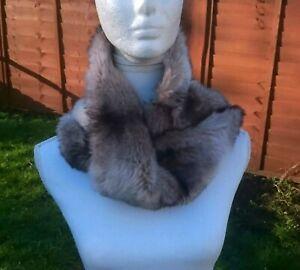 Vintage mink-gray color  faux fur collar- neck collar/Vintage collar
