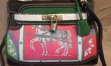 New Birkin Style Horse Print High Quality Leather Handbag /Crossbody Purse