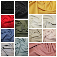 Linen Viscose Mix Soft Stretch Fabric Material Dress Making127cm Wide 13 Colours