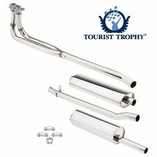New Complete Exhaust System Polished Stainless Pipes Muffler & Hardware MGB 569