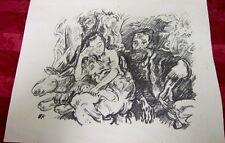 Original Stone Lithograph By Oskar Kokoschka (Austrian, 1886-1980)