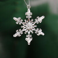 12x Acrylic Crystal Snowflake Christmas Tree Hanging Pendant Decor Ornament