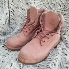Timberland Pink Ladies LaceUp Ankle Boots size UK 4 EUR 36 Genuine Leather