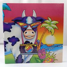 Lisa Frank Cows In Paradise 1988 Vintage 3 Ring Photo Album Binder