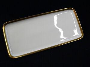 Hutschenreuther Noblesse weiß Gold Königskuchenplatte Sandwichplatte 32 cm