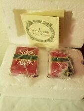 Waterford Holiday Salt And Pepper Set Heirloom Gift Box NEW