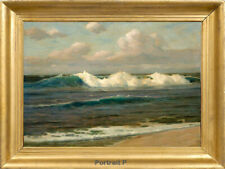 "Old Master Art Vintage Ocean Seascape Oil Painting on Canvas Unframed 24""x36"" in"